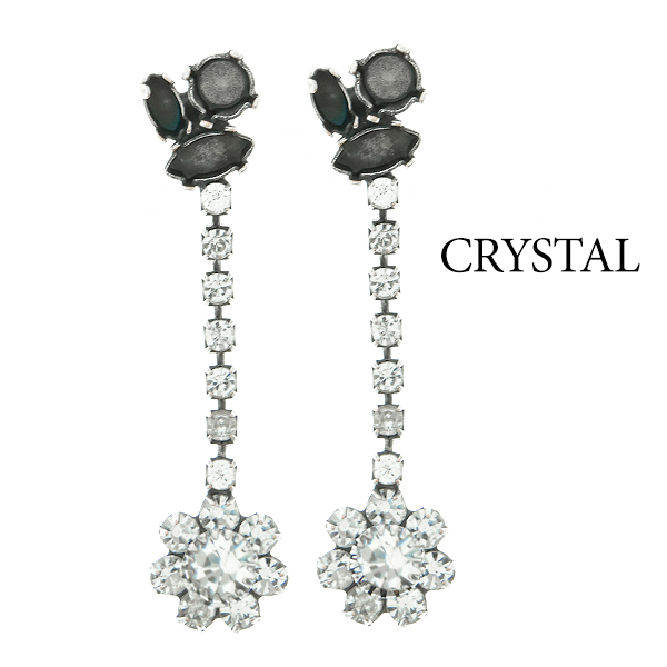 Mixed Size stone settings Stud Earrings with Rhinestoness