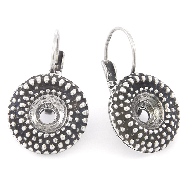 39ss Round Dotted Lever back Earring base