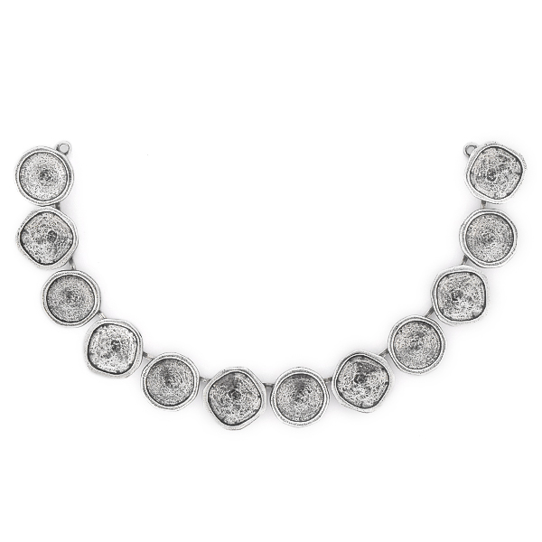 12mm Rivoli, 12x12mm Square Centerpiece for Necklace - 12 settings