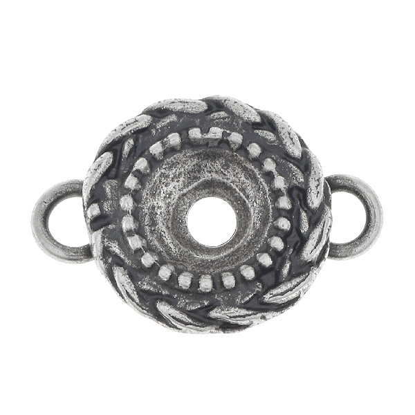 39ss Wheat Jewelry Connector with two side loops