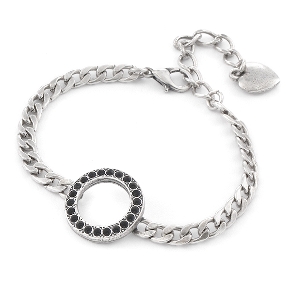 8pp Hollow Circle Almost Finished Bracelet