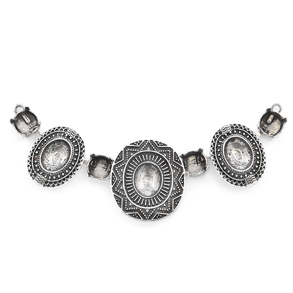 39ss, 10x8mm Oval Ethnic Centerpiece for Necklace
