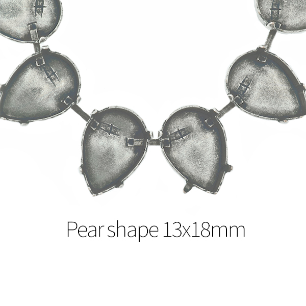 13X18mm Pear shape Cup chain for Necklace - 1Meter