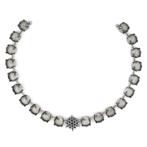 8pp, 14pp, 18pp, 12mm Rivoli North Star Centerpiece for Necklace - 21 settings