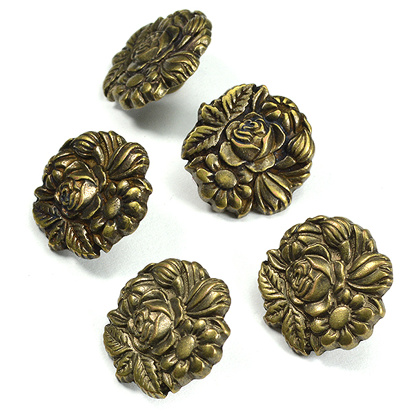 16mm Flowers embedding buttons