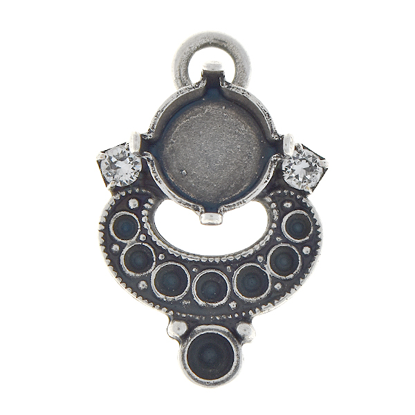 8pp, 14pp, 18pp, 39ss Pendant base with 18pp Rhinestones