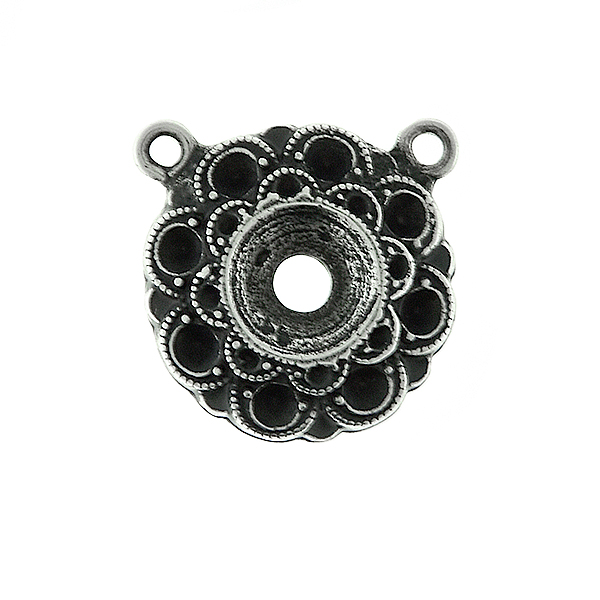 14pp and 29ss Metal casting Flower element Pendant base with two top loops