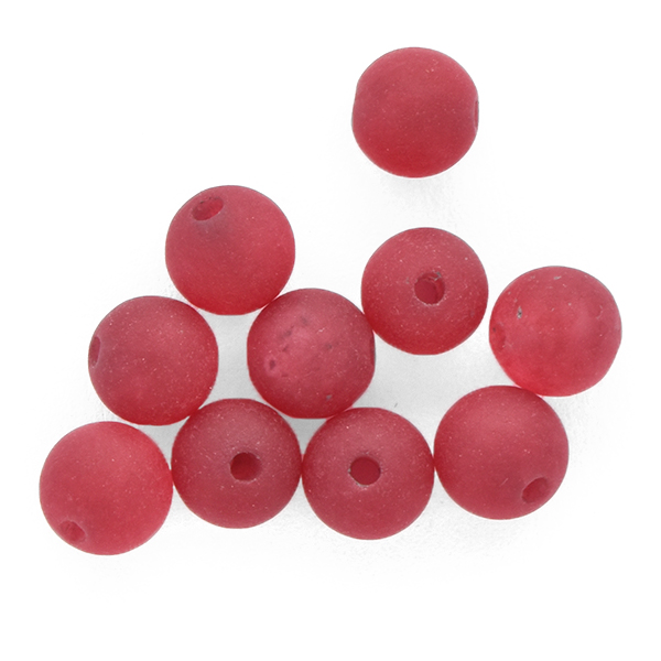 6mm Round natural Agate Beads Ruby Matte color - 10pcs pack
