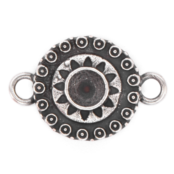 24ss Round Ethnic Jewelry Connector with two side loops