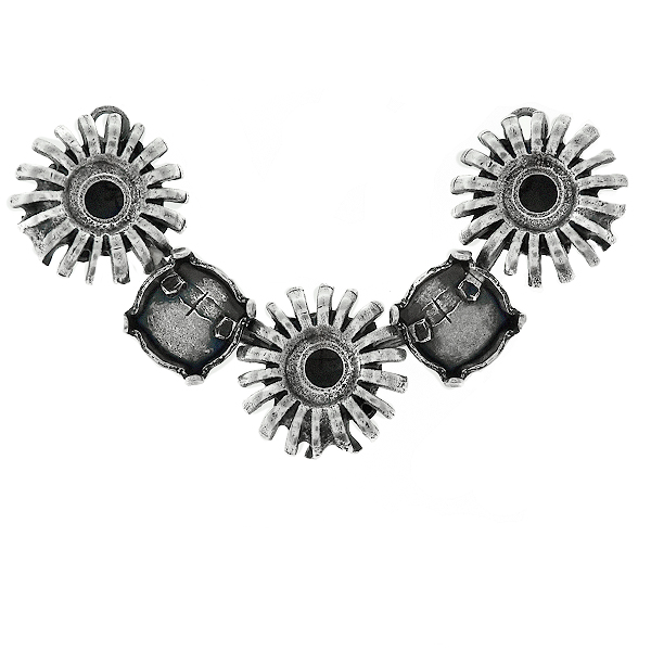 39ss cup chain and metal sunflower elements Centerpiece for Necklace base