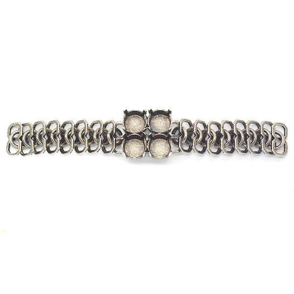 Rail Links chain with 39ss settings-Piece for bracelet