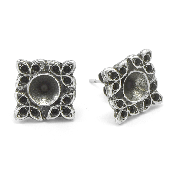 8pp, 24ss Floral Stud Earring base