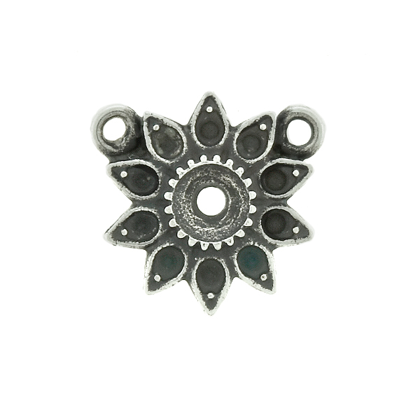 8pp and 32pp metal casting Daisy Flower Pendant base with two top loops