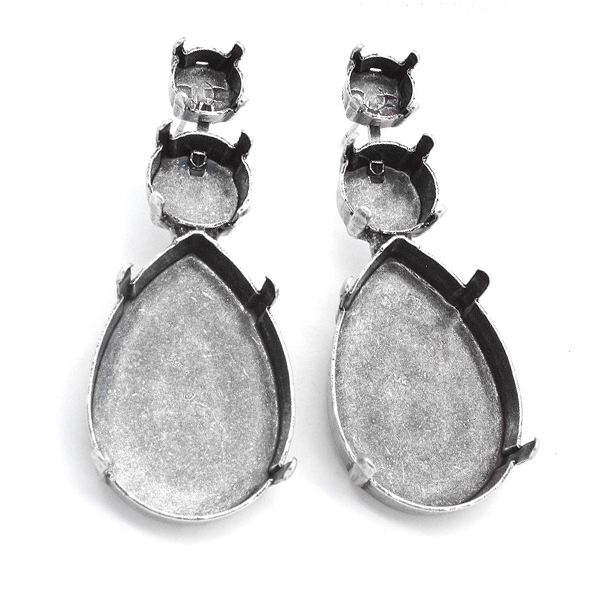 39ss/47ss and 30-20mm pear shape stud earring base
