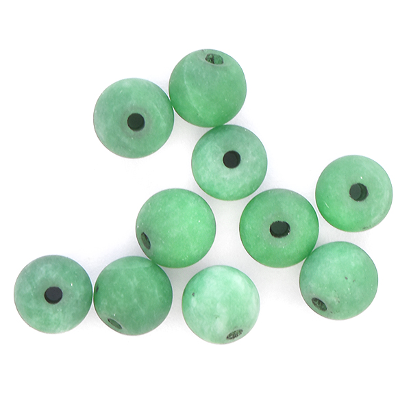 6mm Round natural Agate Beads Deep Green color - 10pcs pack