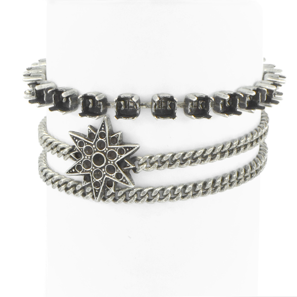 24ss cup chain North Star Wrap Around Bracelet base