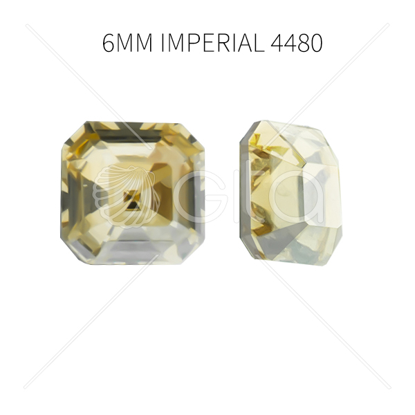 6mm Imperial 4480  Aurora Crystal Golden Shadow color