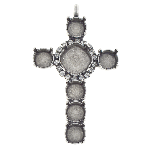 39ss and Square 12-12mm cross pendant base