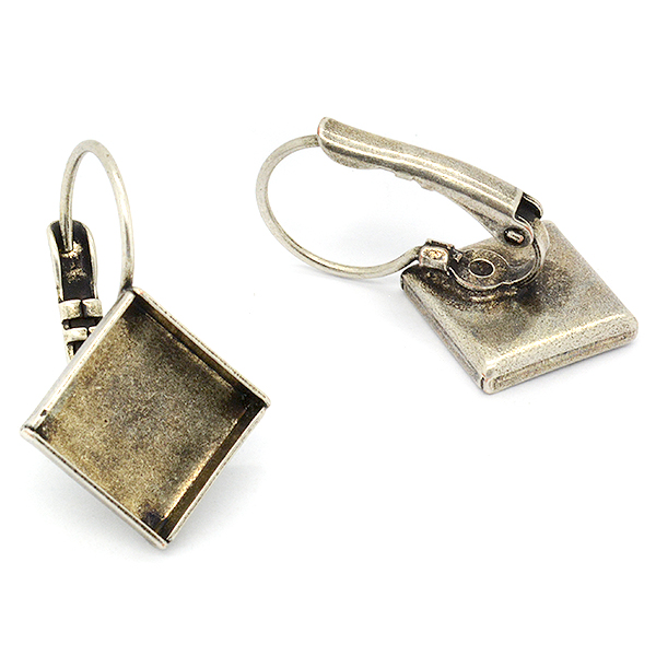 Square shaped 10mm hanging earrings base