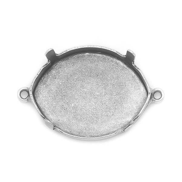 Pure leaf 23X18mm Pendant base with two loops