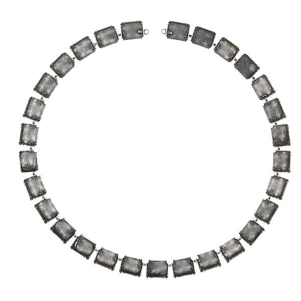 12x10mm Octagon Cup Chain Necklace base ( 29 settings )