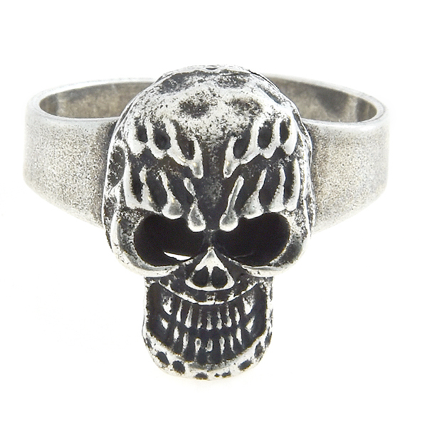 Adjustable ring base with metal casting skull