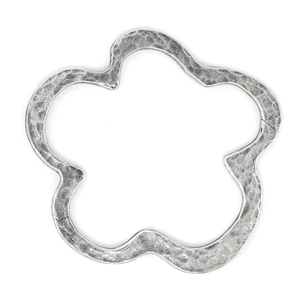 Flower shaped metal jewelry connector