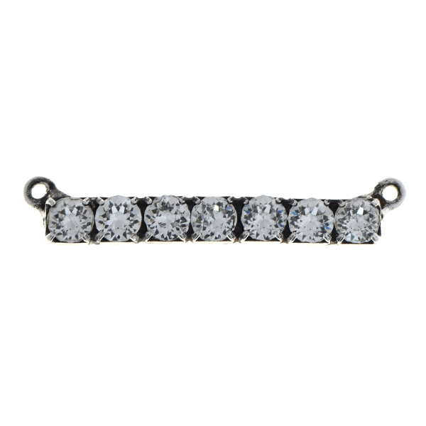 32pp Rhinestones bar pendant with two loops