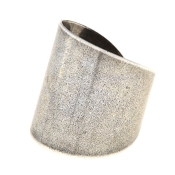 Wide plain metal ring