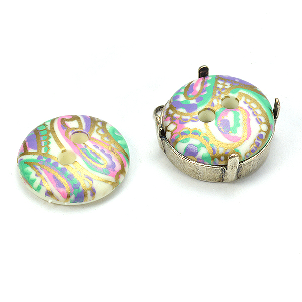 16mm Multi color decorated embedding buttons