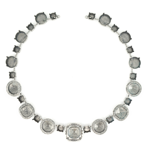 39ss, 12mm Square, 12mm and 14mm Rivoli Necklace base - 27 settings