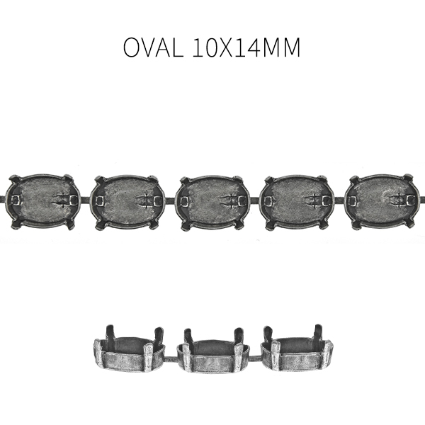 14x10mm Oval Horizontal Special Unique Cup chain for Bracelet -1 meter