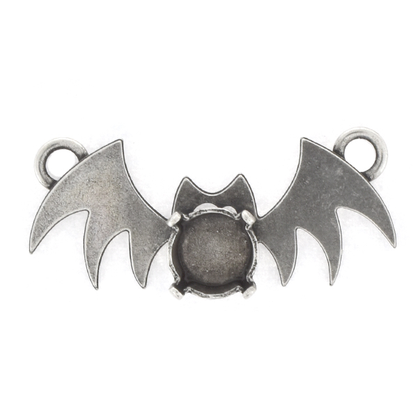 39ss Bat Pendant base with two top loops