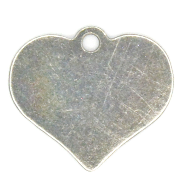 10x9mm Heart Charm with one top loop