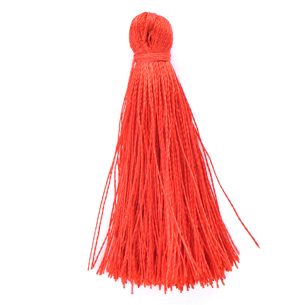 45mm Thread Tassel for jewelry making Red color - 4pcs pack