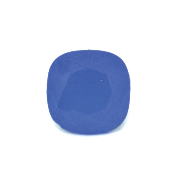 Opaque Blue Glass Stone for 4470 10X10mm Square setting-2pcs pack