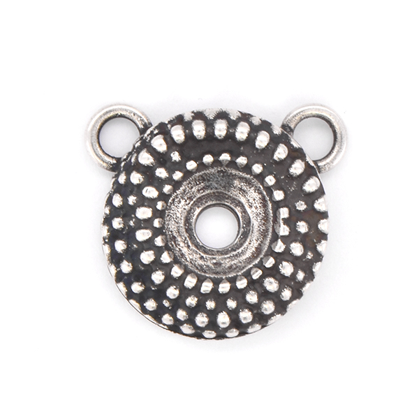 39ss Round Dotted Pendant base with two top loops