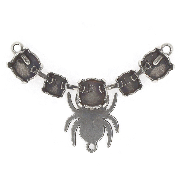 29ss, 39ss Centerpiece for Necklace with Spider and bottom loop