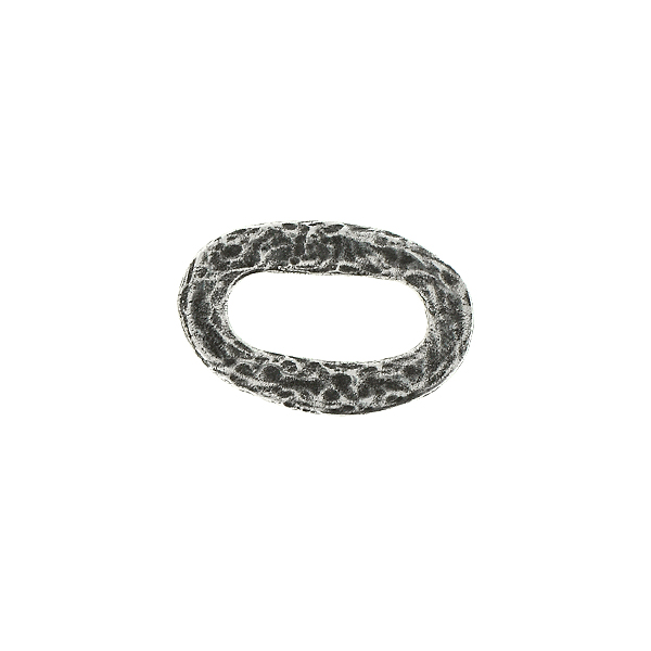 19.6x12.8mm Asymmetric Oval metal Jewelry connector