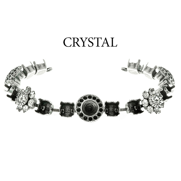 29ss cup chain and casting elements Bracelet base with Swarovski  flower elements Crystal color