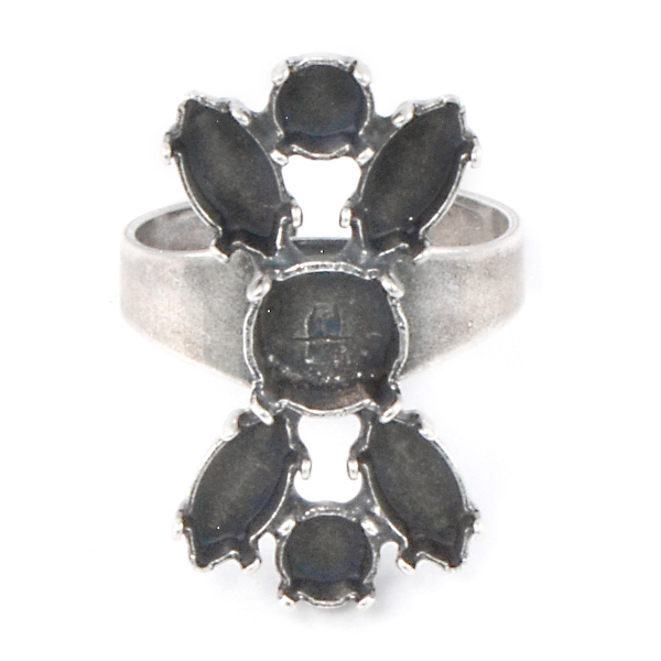 24ss, 39ss, 10x5mm Navette Adjustable ring base