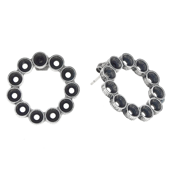 32pp, Hollow circle Stud Earring bases