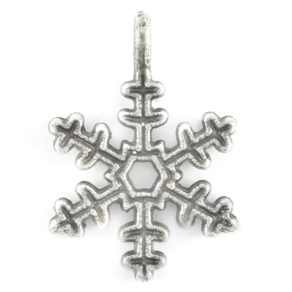 Classic Snowflake pendant with top loop