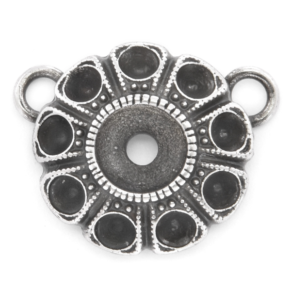 24pp, 29ss Flower pendant base with two top loops