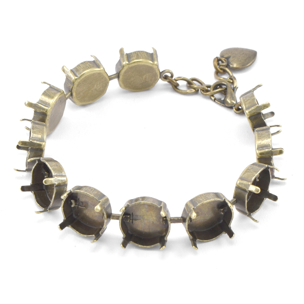 12mm Rivoli empty cup chain (11 settings) almost finished Bracelet