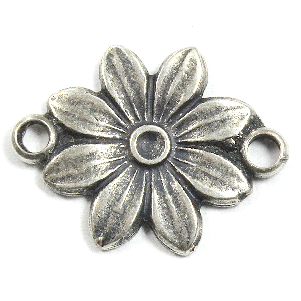 Flower casting with 2 side loops
