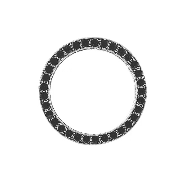 8pp Metal casting hollow circle Jewelry