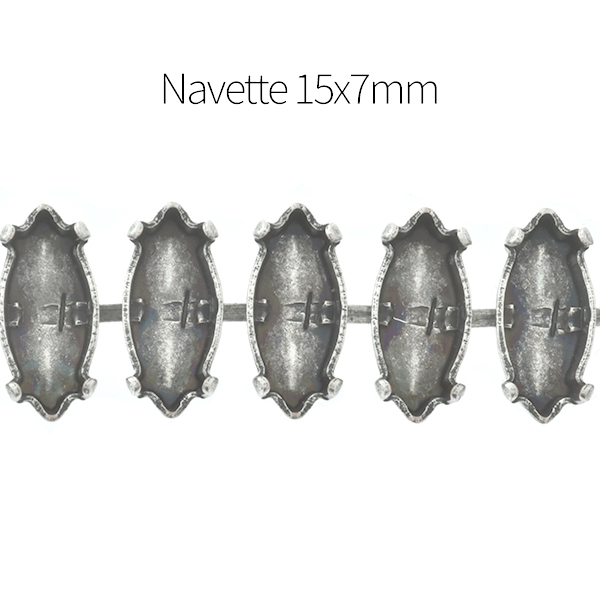 15x7mm Navette Cup chain for Bracelet - 1Meter