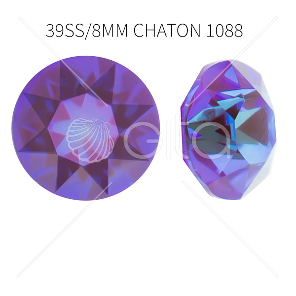 39ss/8mm Chaton 1088 Crystal Lilac Delite