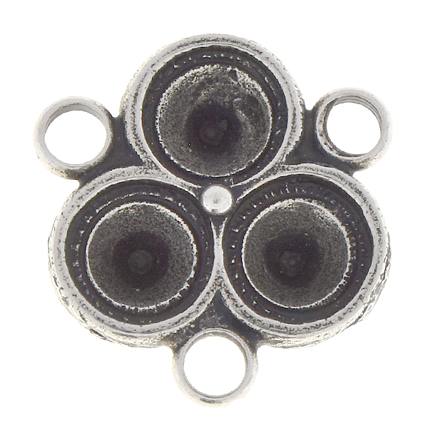 29ss Triangle jewelry connector with three loops